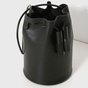 STEVEN ALAN Building Block Blk Leather Bucket Bag